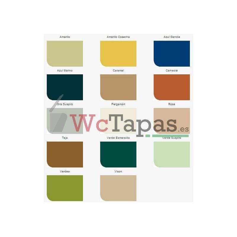 Asiento inodoro compatible universal gala for Inodoro verde