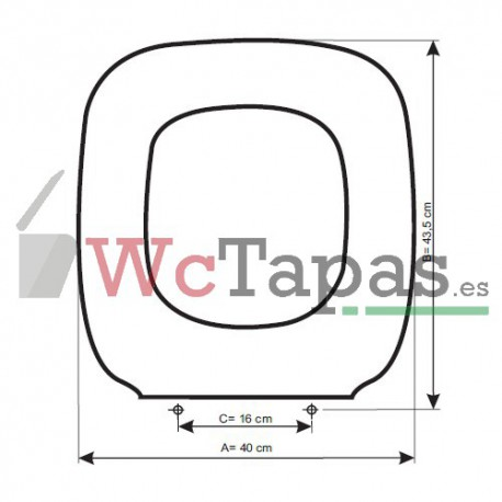 Asiento inodoro compatible universal gala for Tapa gala universal