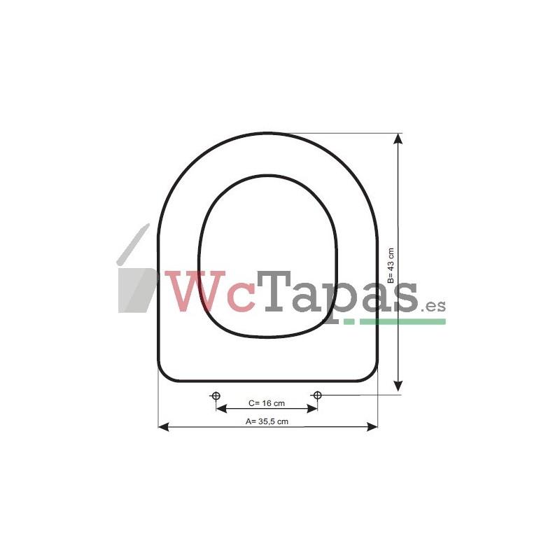 Asiento inodoro compatible nexo bellavista for Tapa wc bellavista