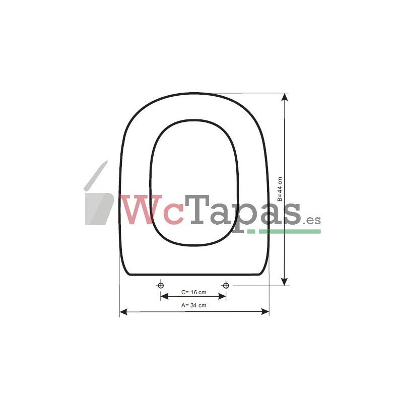 Tapa wc compatible dama retro roca - Tapa wc victoria ...
