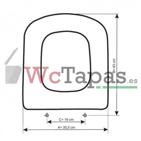 Tapa wc compatible dama senso roca - Tapa wc roca dama ...