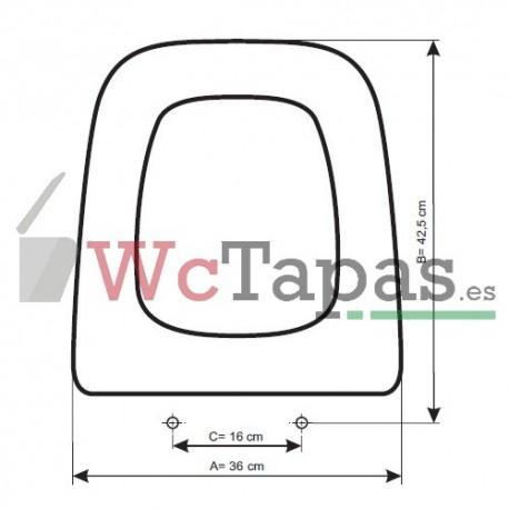 Tapa wc compatible g ndola roca for Sanitarios bellavista descatalogados