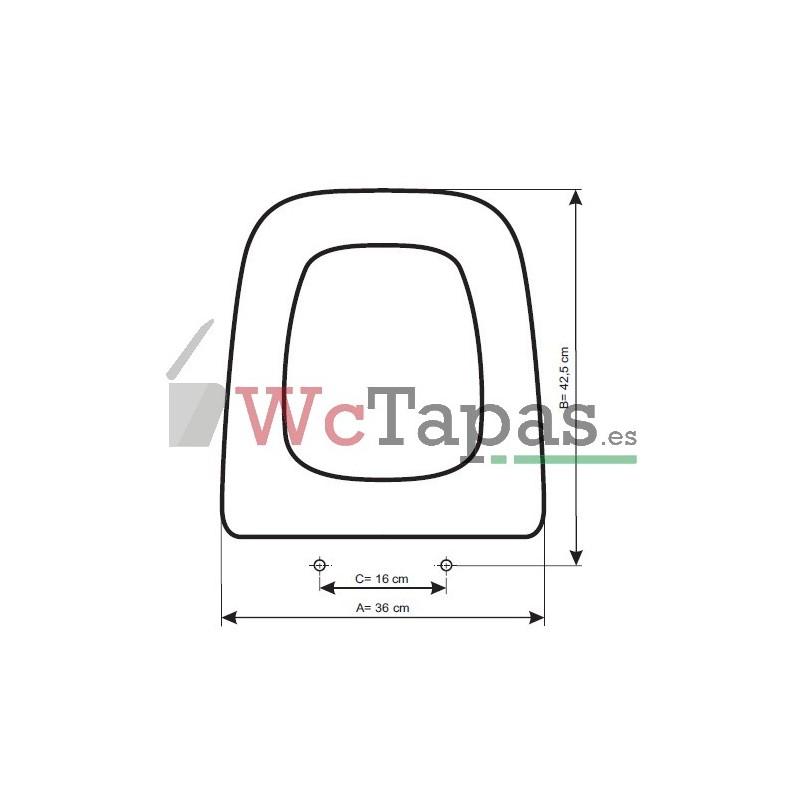 Tapa wc compatible g ndola roca - Modelos de inodoros ...