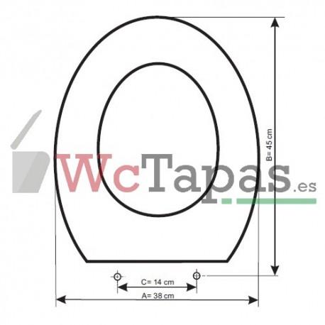 Tapa wc compatible lorental roca for Tapa wc roca victoria