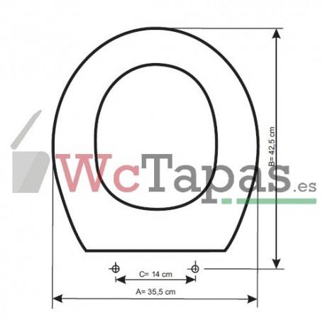 3978 Tapa Wc Compatible Lucerna Roca