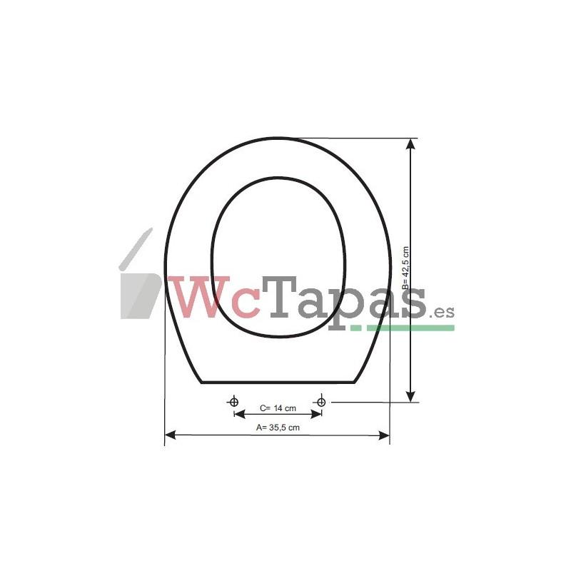 Tapa wc compatible lucerna roca for Tapas de wc universales