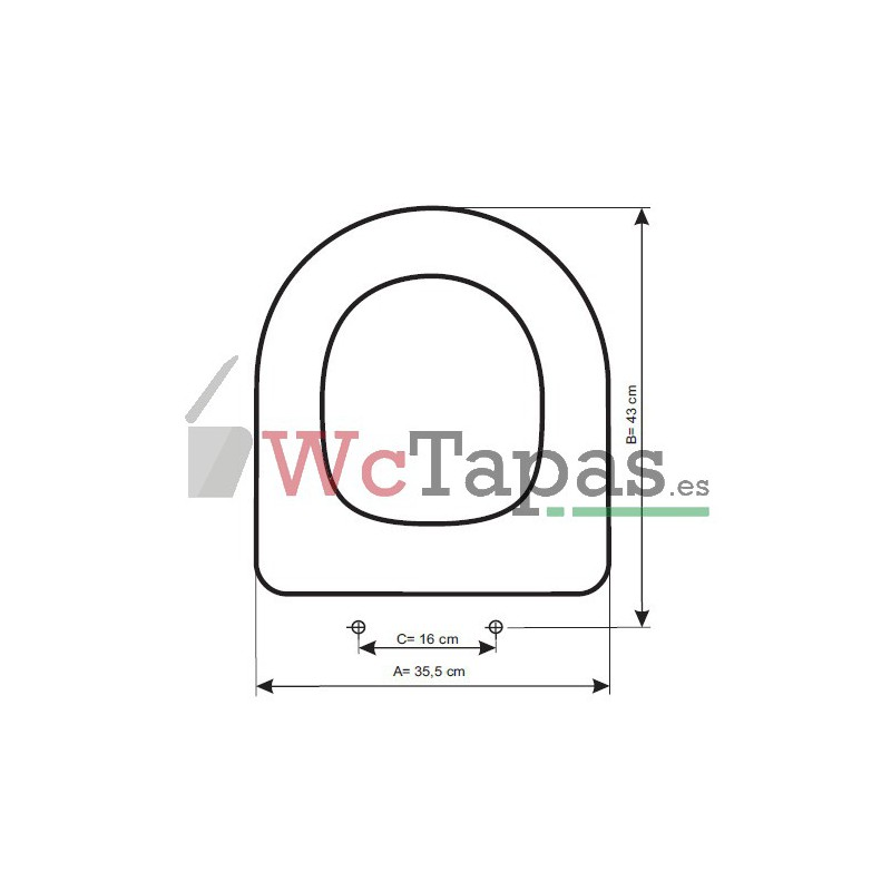 Tapa wc compatible meridian roca for Tapa cisterna roca