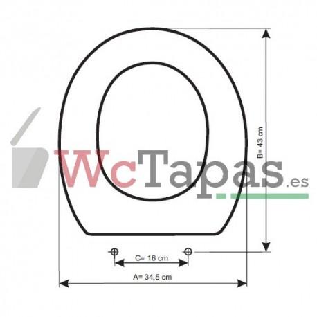 Tapa wc compatible victoria roca for Tapa wc roca victoria
