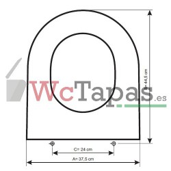 Tapa Wc COMPATIBLE Block Cifial.