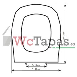 Tapa Wc COMPATIBLE Gold Plaza Cifial.