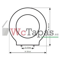 Tapa Wc COMPATIBLE Techno C2 Cifial.