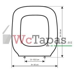 Tapa Wc COMPATIBLE Techno C4 Cifial.