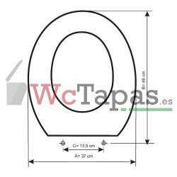 Tapa Wc COMPATIBLE Metric Noken Porcelanosa.