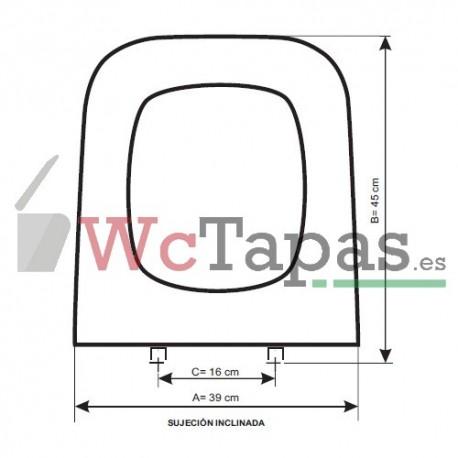 Asiento inodoro compatible astros jacob delafon for Tapa de water
