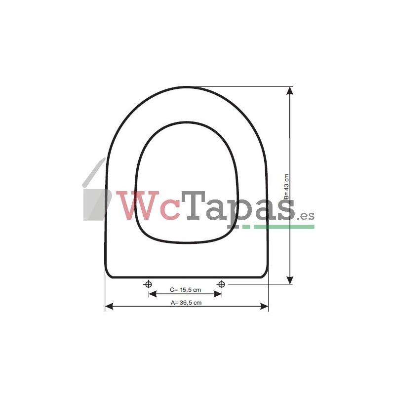 Tapa inodoro compatible odeon up jacob delafon - Inodoros jacob delafon ...