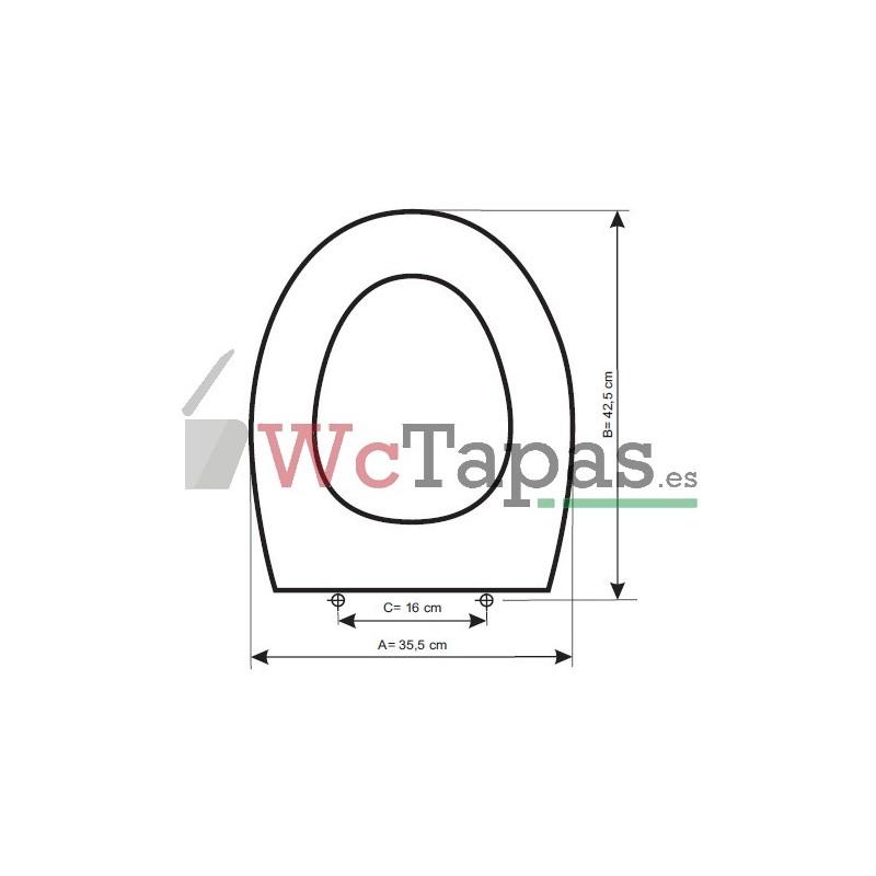 Tapa inodoro compatible nila gala for Tapa gala universal