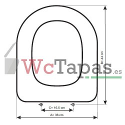 Tapa Wc COMPATIBLE Clodia Ideal Standard.