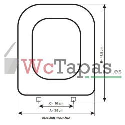 Tapa Wc COMPATIBLE Conca Ideal Standard.