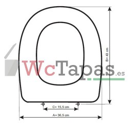 Tapa inodoro COMPATIBLE Arco Ideal Standard.