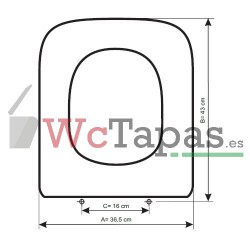 Tapa inodoro compatible duroplast dama retro - Tapa wc roca dama ...