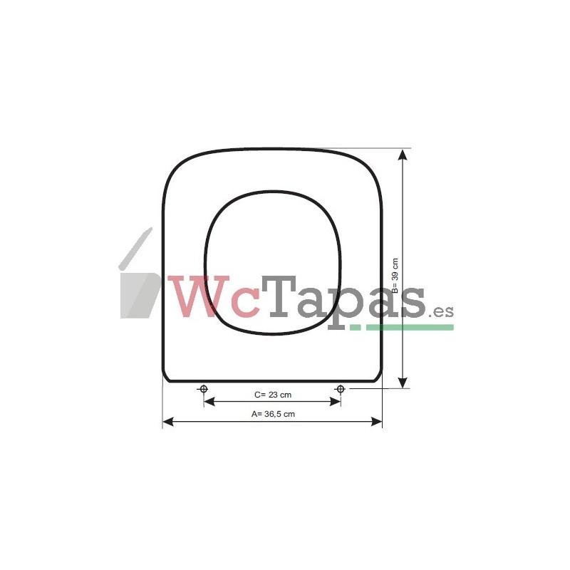 Tapa wc compatible dama compact roca - Tapa wc roca dama ...