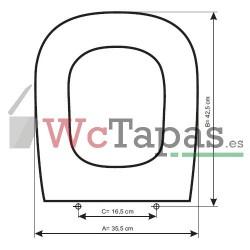 Tapa Wc COMPATIBLE D-Code Duravit.