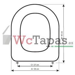 Tapa Wc COMPATIBLE Starck 3 Duravit.