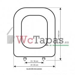 Tapa Wc Compact Luxe Sfa Sanitrit COMPATIBLE.