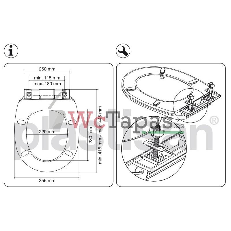 Tapa Wc Inodoro Termoplast Compatible Victoria Roca