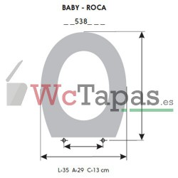 Tapa Wc COMPATIBLE Baby Roca.