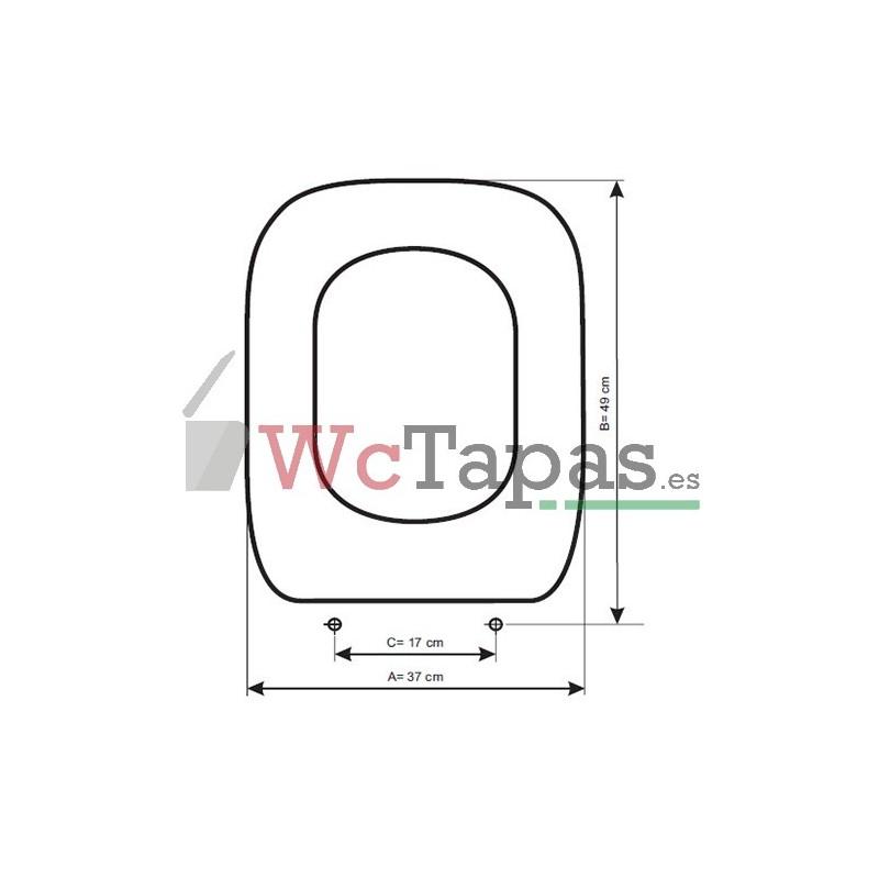 Tapa wc amortiguada compatible dial hidra - Tapa wc amortiguada ...