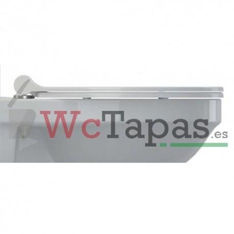 Tapa inodoro amortiguada universal duroplast recto slim for Tapa wc gala universal