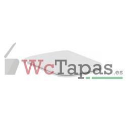 Asiento y tapa caída normal Ventuno (para inodoro suspendido y tnaque alto) Ideal Standard.