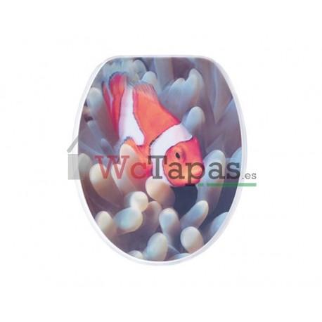 Tapa wc g granato dibujo pesce pagliaccio 3d - Tapas wc decoradas ...