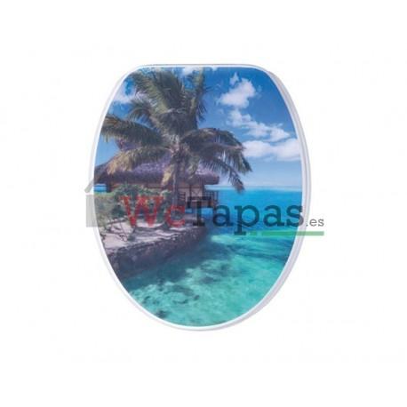 Tapa wc g granato dibujo caraibi 3d for Tapa wc victoria