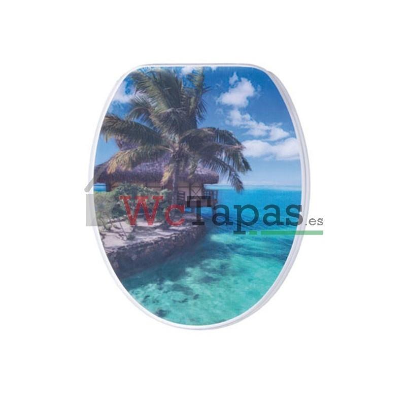 Tapa wc g granato dibujo caraibi 3d for Tapa wc roca victoria